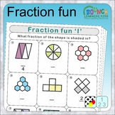 Fraction fun (what fraction of the shape is shaded distanc