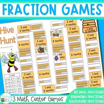 Fraction games for Third Grade