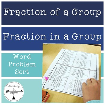 Fraction in a Group & Fraction of a Group Sorting Activity