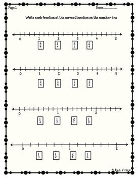 Fraction number line freebie
