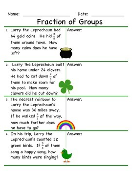 Fraction of Groups- March Math