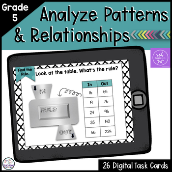 Number Patterns and Relationships Boom Cards