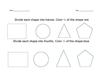 Fraction of Shapes