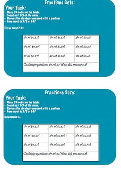 Finding Fractional Part of a Group - Task Card
