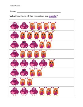 Fraction of a Group Valentine Monsters