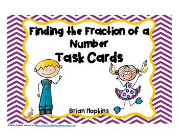 Fraction of a Whole Number Task Cards