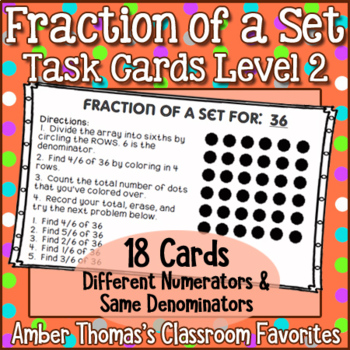 Fraction of a Set Task Cards Set 2