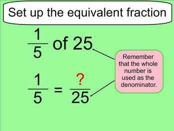 Fraction of a Whole Number Lesson - Smartboard