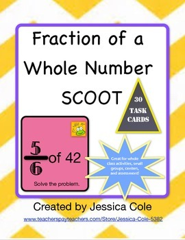 Fraction of a Whole Number SCOOT!