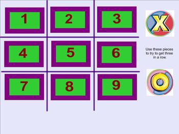 Fraction of a Whole Number Tic Tac Toe Smartboard Activity