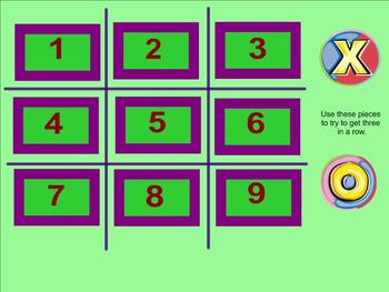 Fraction of a Whole Number Tic Tac Toe Smartboard Activity (fraction answers)