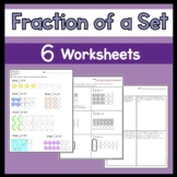 Fraction of a Set Worksheets