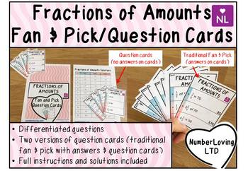 Fraction of Amounts (Fan and Pick Cooperative Learning Cards)