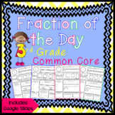 Fraction of the Day for 3rd Grade - Distance Learning - Go