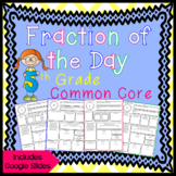 Fraction of the Day for 5th Grade - Distance Learning - Go