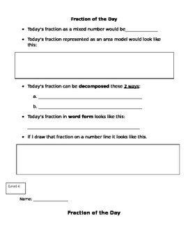 Fraction of the Day Levels (2-6)