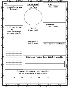 Fraction of the Day Template