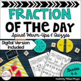 Fraction of the Day - Warm Ups and Quizzes - Distance Learning