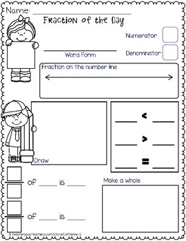 Fraction of the Day Worksheets