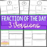 Fraction of the Day for 3rd, 4th, and 5th Grade