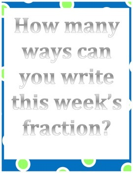 Fraction of the Week