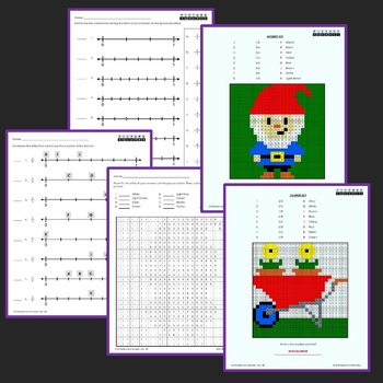Fun Math Worksheets For 3rd Grade, Number Line Fractions Activity