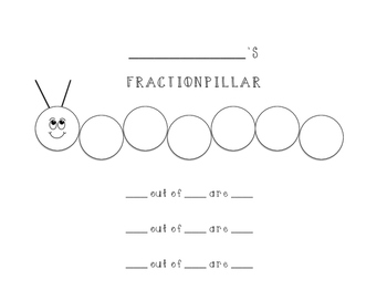 Fraction-pillar Printable/Graphic Organizer (Color-In)