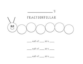 Fraction-pillar Printable/Graphic Organizer (Color-In)