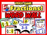 Fraction terms bulletin board for a word wall