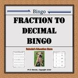 Fraction to Decimal Bingo (30 pre-made cards!)