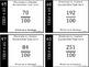 Hundredths - Relate Fraction to Decimal - 48 Task Cards