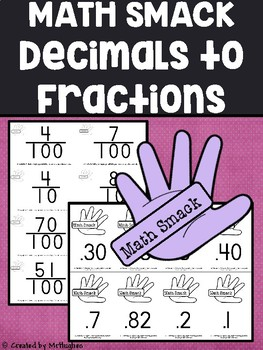 Fraction to Decimal - Math Smack