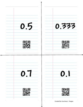 Fraction to Decimals Task Cards
