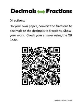 Fraction to Decimals Task Cards