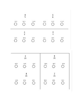 Fraction to Percent Equivalent Flashcards