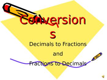 Fraction to decimals