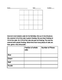 Fraction worksheet (parts of whole)