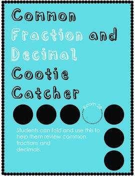 Fraction/Decimal Cootie Catcher