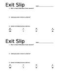 Fraction/Decimal Exit Slip