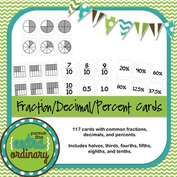 Fraction/Decimal/Percent Cards