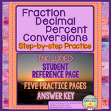 Fraction/Decimal/Percent Conversions - Student Notes and Practice Pages