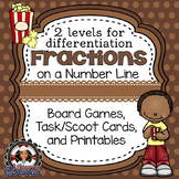 Fractions Game Number Lines and Printables / Worksheets