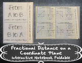 Fractional Distance on a Coordinate Plane Foldable