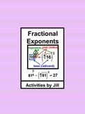 Fractional Exponents Notes & Charts nth Roots (Distance Learning)