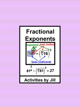 Fractional Exponents Notes & Charts