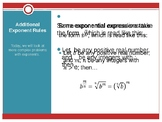 Fractional Exponents PPT