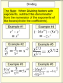 Fractional Exponents for SMART Notebook & Socrative, 5 Assignments & Study Guide