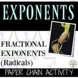 Rational exponents Radicals Activity Paper Chain