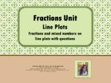 Fractional Line Plot Data