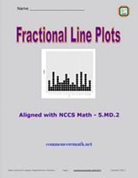 Fractional Line Plots - 5.MD.2